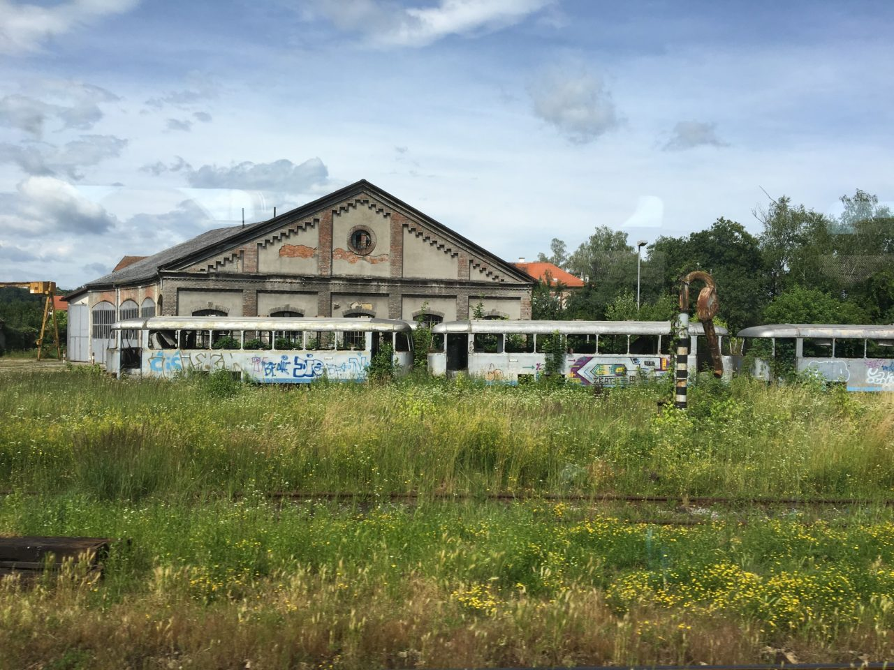 Train Station in Korlovac, Croatia