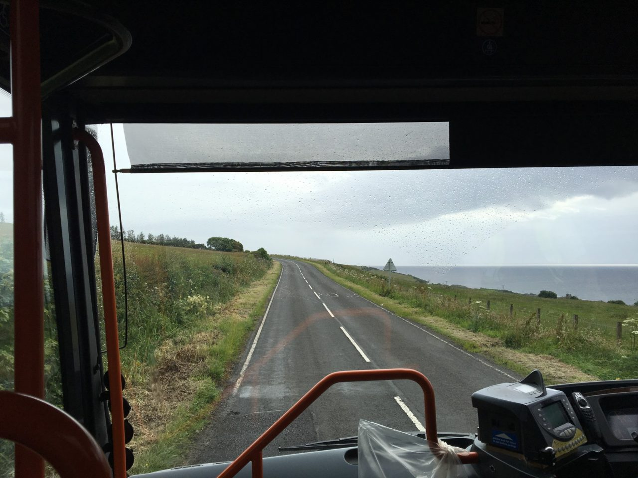On the bus to the ferry to Belfast